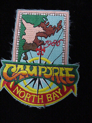 "Lot Of 20 Boy Scouts Of America 1986 North Bay Council "" Camporee "" Pocket Patch"