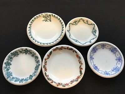 Set of 5 Butter Pats - Unknown Patterns, Age and Makers - Nice Assortment