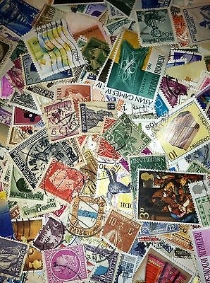 100+ Worldwide Off Paper Stamps