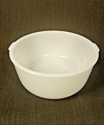 Vintage Glasbake 19CJ White Milk Glass Mixing Bowl Made for Sunbeam Mixers