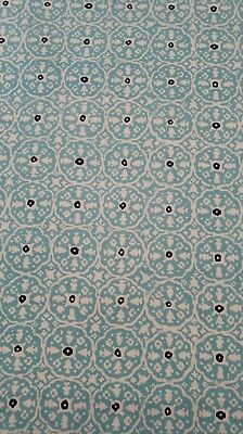 CHINA SEAS Nitik IINew Turquoise on Tint - Quadrille Fabric- Alan Campbell