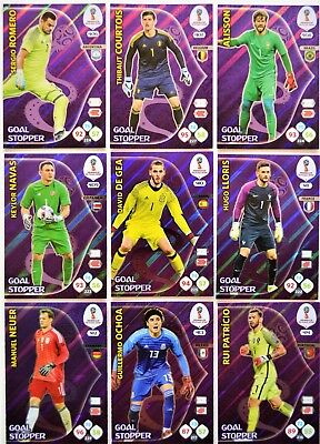 Panini Adrenalyn XL World Cup 2018 Russia/ alle GOAL STOPPER (9 x) : Nr. 406-414