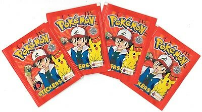 Topps POKEMON 1999 EDITION Lot 4 sobres Stickers sealed packs Merlin 1999