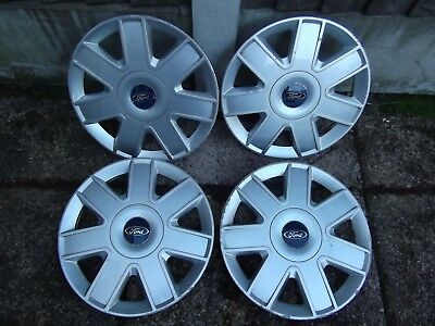 "Genuine Set Of 4  13"" Ford Ka Wheel Trims Used In Fair Condition For Age"