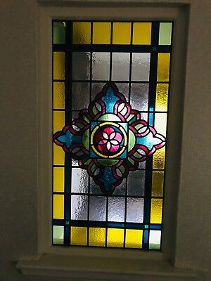 Beautiful Victorian style leaded stained glass window excellent condition