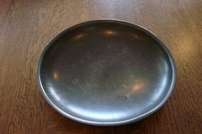 """Antique Scale Pan Tray Scoop Vintage Scales Tin 8 3/4 """"Round"""