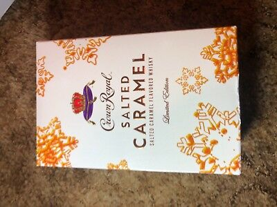 Crown Royal Salted Caramel Limited Edition Bottle Holiday Collectors Edition