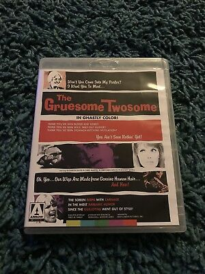The Gruesome Twosome Blu Ray Arrow Video H G Lewis Horror Gore Uk Release