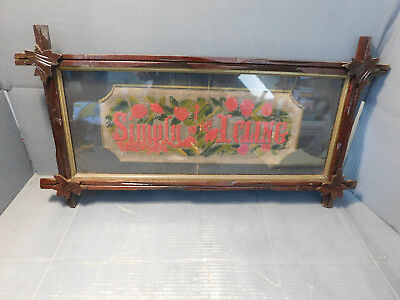 Antique Victorian Framed Hand Stiched Sampler/Motto - Needlepoint