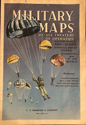 VINTAGE Military Maps Of All Theaters Of Operation