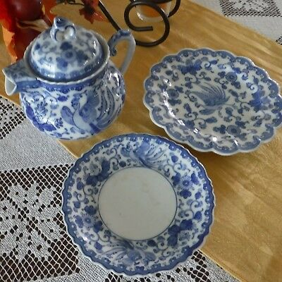 Antique Chinese Small Teapot Set