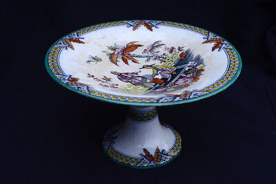 Victorian Staffordshire comport or cake stand - Chinoiserie design c1870