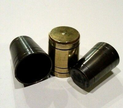 """Select 3 x SOLID BRASS WALKING STICK """"ULTRA"""" FERRULES. THICK *4mm BASE* 12 SIZES"""