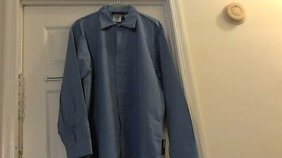 New Workrite FR Safety Work shirt ( L-Rg ) Blue w / O Tags