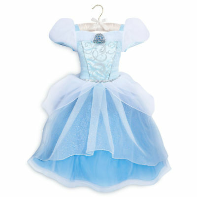 NWT Disney store Cinderella Costume Dress Princess SZ 4,5/6,7/8 Girls