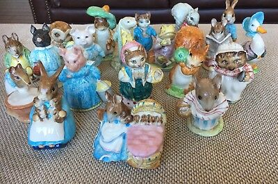 Lot of 20 Vintage Beatrix Potter Beswick Ceramic Figurines Years  1948 - 1976