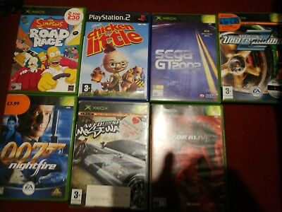 Job Lot Bundle Of Original Xbox Games Untested UK PAL