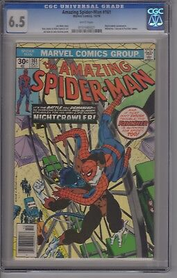 Amazing Spider-Man #161 Featuring Nightcrawler CGC 6.5 White Pages