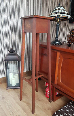 Antique Vintage Tall Wooden Plant/Pot/Jardiniere/Vase/Lamp/Display Stand