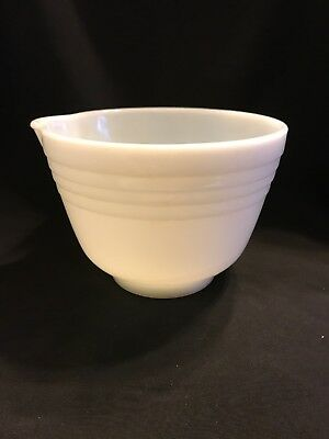 Vintage Milk Glass Mixing Bowl With Spout