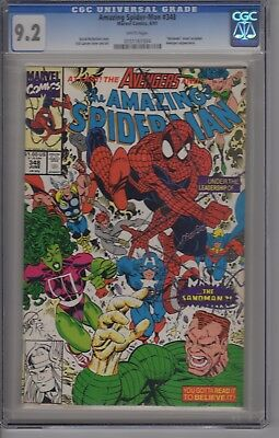 The Amazing Spider-Man #348 CGC  9.2  White Pages. Avengers Appearance
