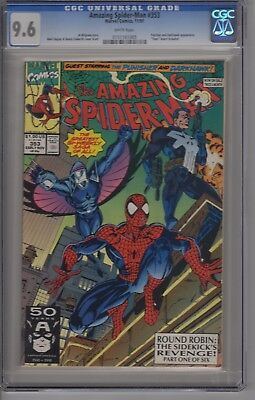 AMAZING SPIDER-MAN #353 CGC 9.6 White pg Punisher Appearance Fleer insert incl