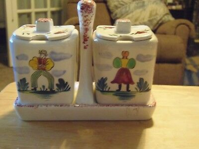 1950's Vintage Morikin Ceramic Table Jelly Containers with Matching Holder