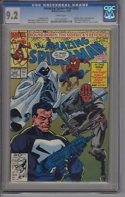 AMAZING SPIDER-MAN #355 CGC  9.2 White Pages Punisher cover!