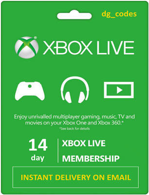 Xbox Live 14 Day (2 Weeks) Gold Trial Key Instant Dispatch 24/7