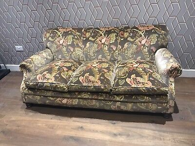 Howard Style Victorian Sofa Reupholstered In Ian Sanderson Poppinjay Velvet