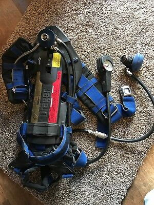 Drager AirBoss Evolution PSS 100 SERIES SCBA Harness Pressure Gauge Plus Used