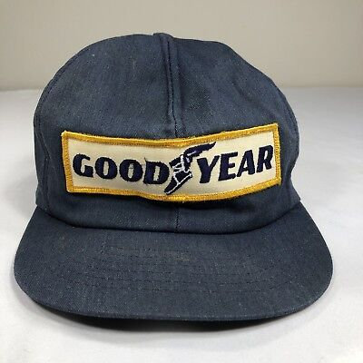 VTG Goodyear Hat Patch Snapback Cap Swingster Tires 70s 80s Made USA Trucker 6c77718105e2