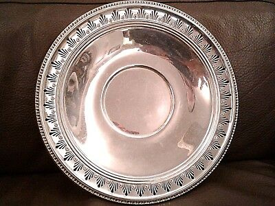 Large Estate Sterling silver 925 Serving Dish platter 581 gram scrap weight