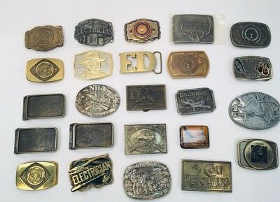 VTG HTF Belt Buckle Hunting Country Western Brass Collectable *YOU PICK ONE*