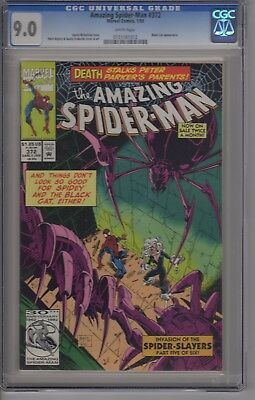 The Amazing Spider-Man #372 9.0 CGC White Pages Black Cat Appearance