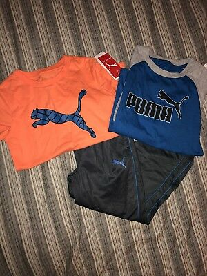 Boys Puma Lot Of 3 Size 6 - 2 Shirts And Pants