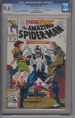 Amazing Spider-Man #374 CGC 9.6 White Pages Venom Appearance