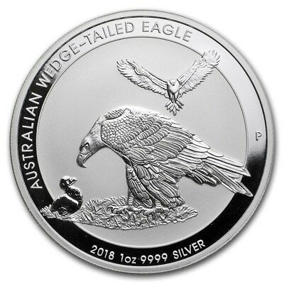Silver Coin Australian Wedge-Tailed Eagle 2018 - 1 oz 99.99 % pure silver