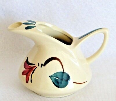 Purinton Ivy Red Blossom Dutch 32 oz Jug Pitcher with Ice Guard - Excellent Cond