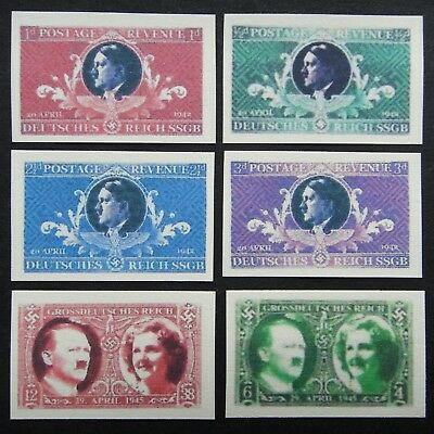 Germany Nazi 1942 1945 Stamps MINT Adolf Hitler Swastika Eagle WWII Third Reich