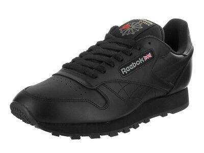 076f352dab41 Reebok Classic Leather CL Black Red Fashion Mens Shoes Sneakers 116 All  Sizes