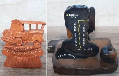 Amazing Philippines Souvenirs 2 pcs/set one Wood , one Resin