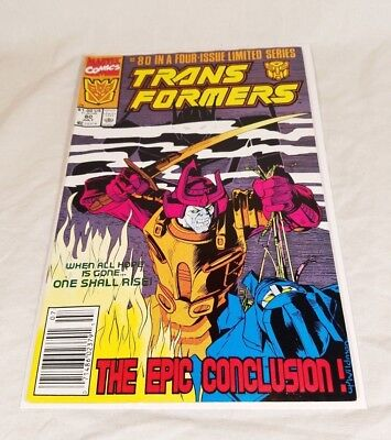 Transformers Comic #80 (1991) Marvel Last Final Issue Rare Book Good Condition