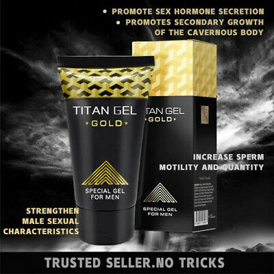 NEW GOLD Titan gel Special for men GUARANTEED ORIGINAL FROM RUSSIA Certificate