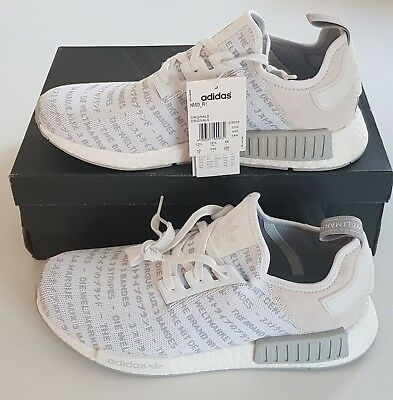 861cd8c85 Adidas Nmd R1 Whiteout Blackout Boost Trainers Sneaker Ltd Edition Runner  S76518