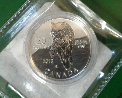 2013 Canada ( $20 for $20) .9999 Fine Silver Coin Wolf