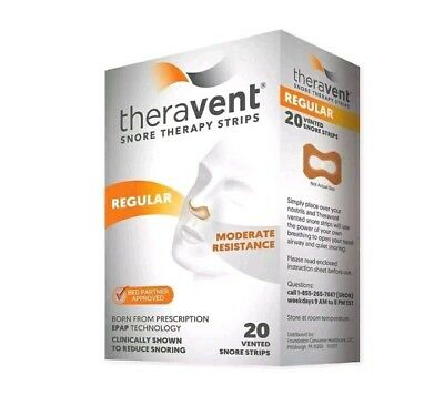 Theravent Snore Therapy Strips Regular 3X20=60 Strips Exp 2020