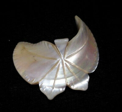 OUTSTANDING VINTAGE MOTHER of PEARL BROOCH,TOP SHAPE!!!