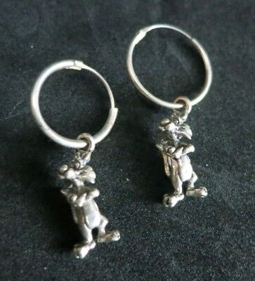 Sylvester the Cat STERLING SILVER Earrings Vintage Looney Tunes Jewelry Charms