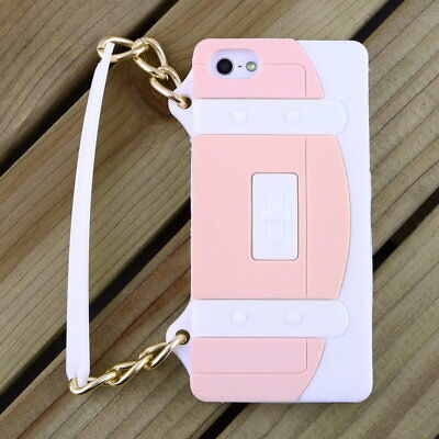 New Fashion Silicone Handbag Style Case Cover for iphone 5 5S ZS#